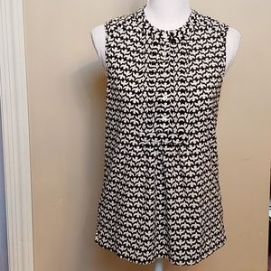 J.Crew black and white sleeveless top. Size 0